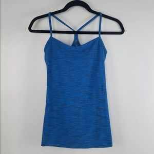 Lucy blue athletic tank top size small W/ bra